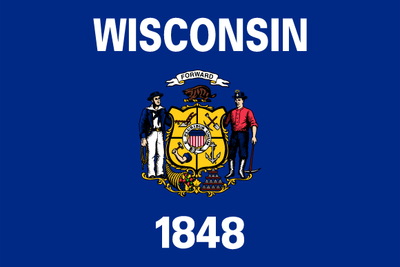 Flagge Wisconsins
